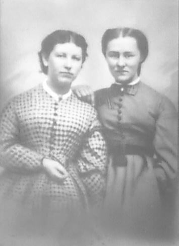 My great grandmothers, Amelia Maria Carter and Mary Eliza Barker.
